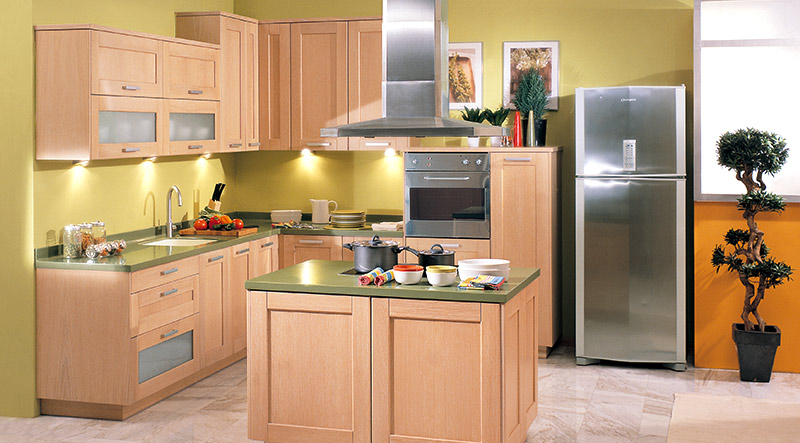 wide frame classic kitchen
