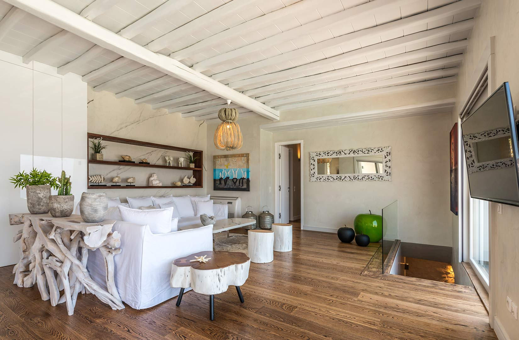 Mykonos, Greece: Living room