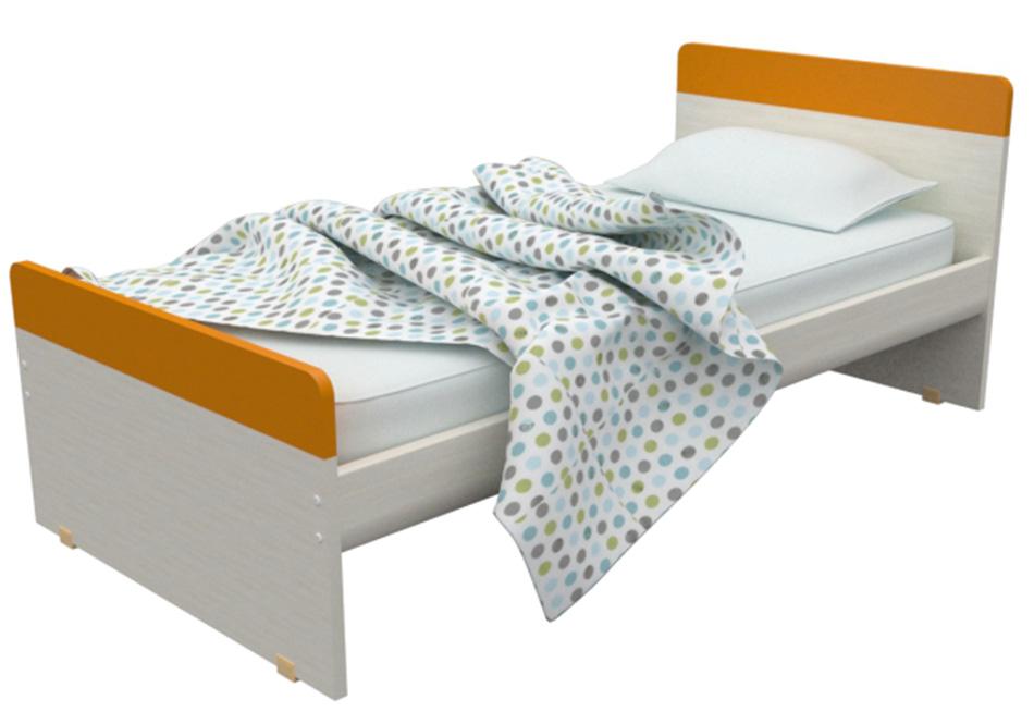frodo (melamine-ext): μονό κρεβάτι πλάτους 100cm ή ημίδιπλο 119cm – παιδικά κρεβάτια