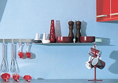 glossy: aluminum accessories for kitchen backsplash