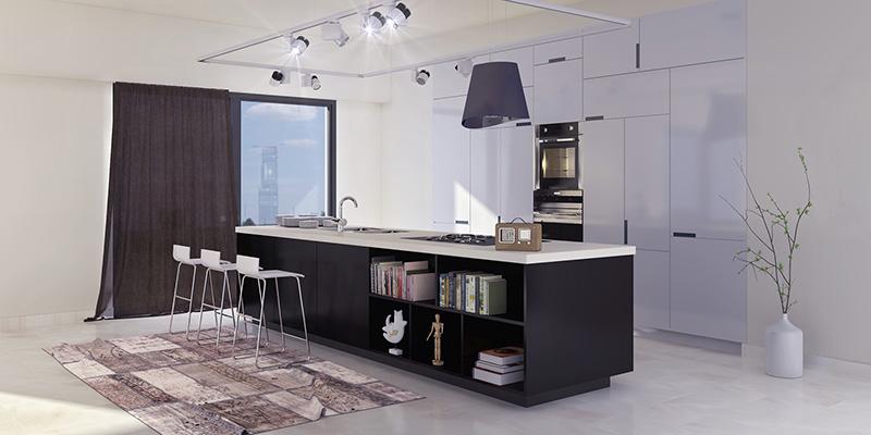 έπιπλα κουζίνας χωρίς πόμολα - puzzle white