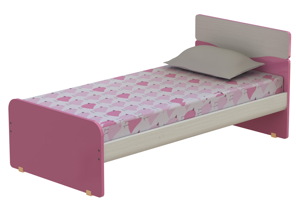 wave: μονό παιδικό κρεβάτι πλάτους 100cm